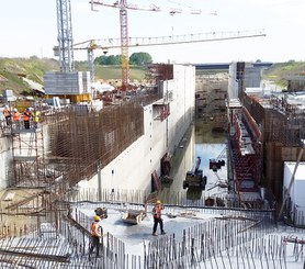 New Lock on the Po River, Italy